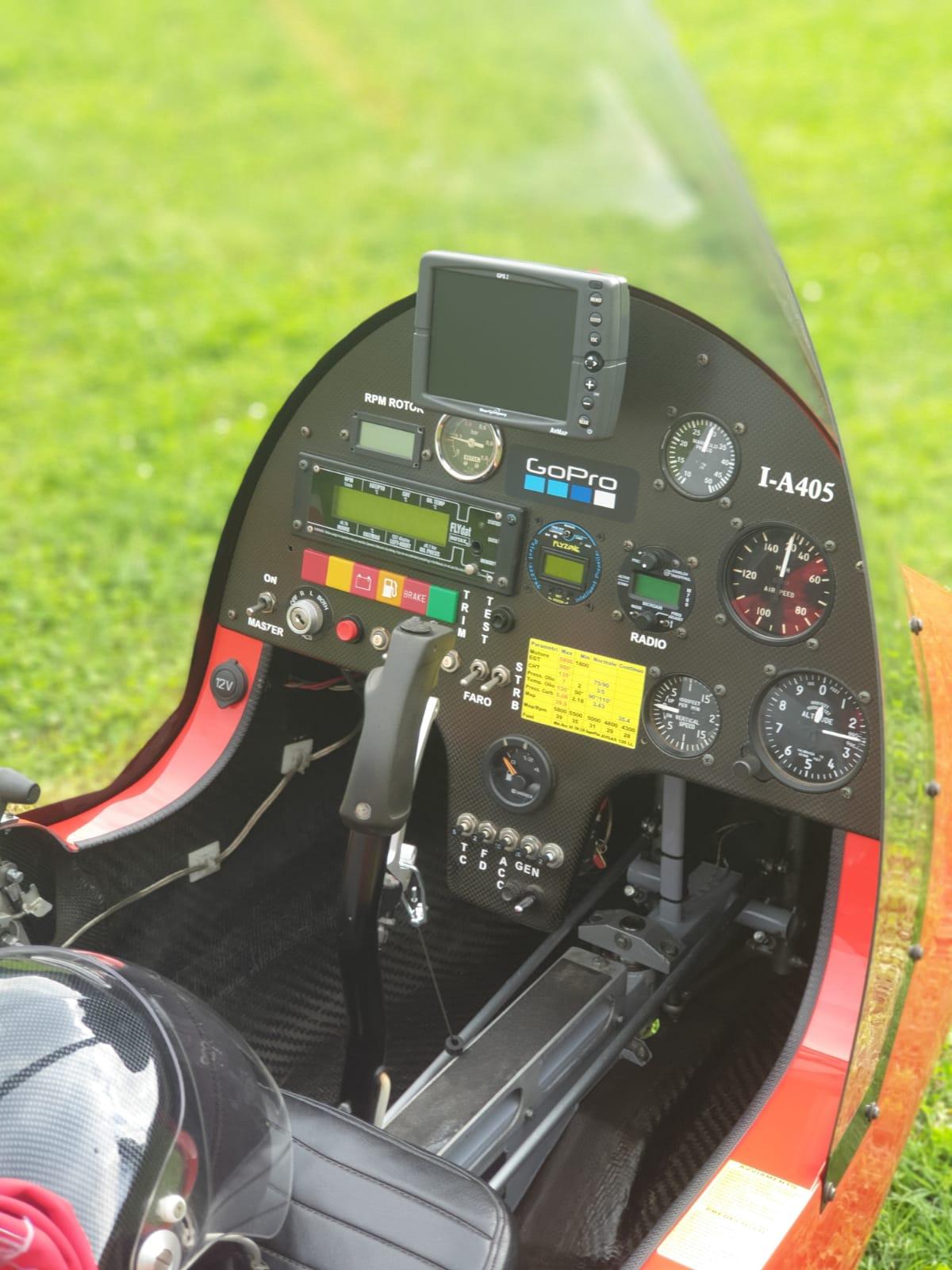 Expérience de gyrocoptère en Italie