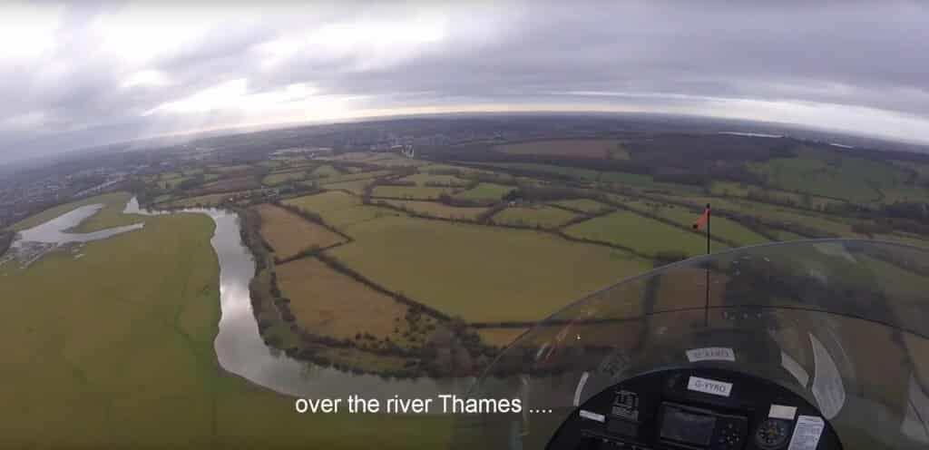Flight over Oxford