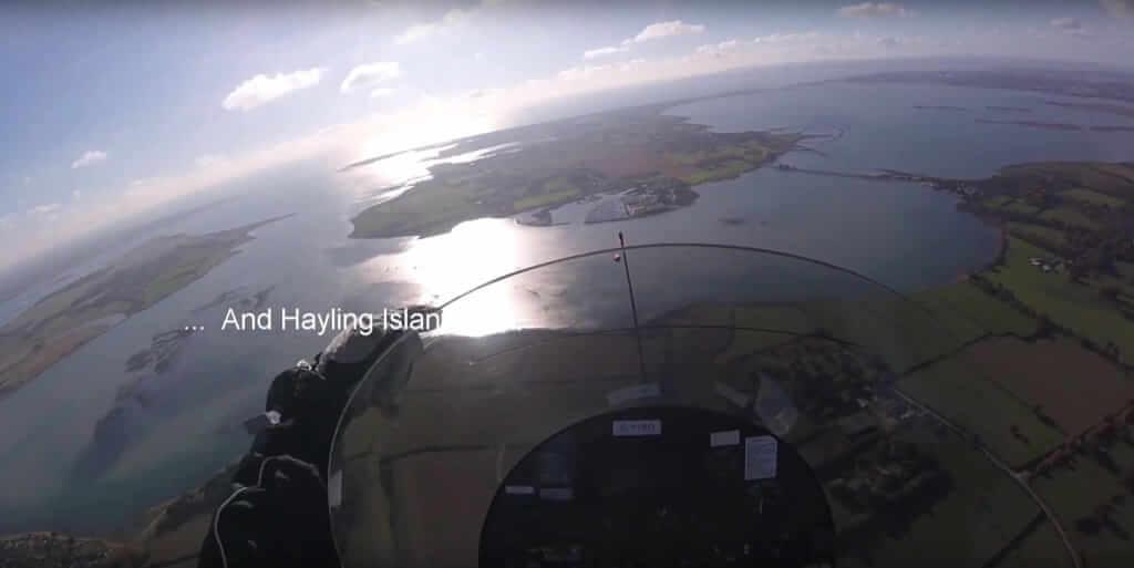 Flug nach Sandown auf der Isle of Wight