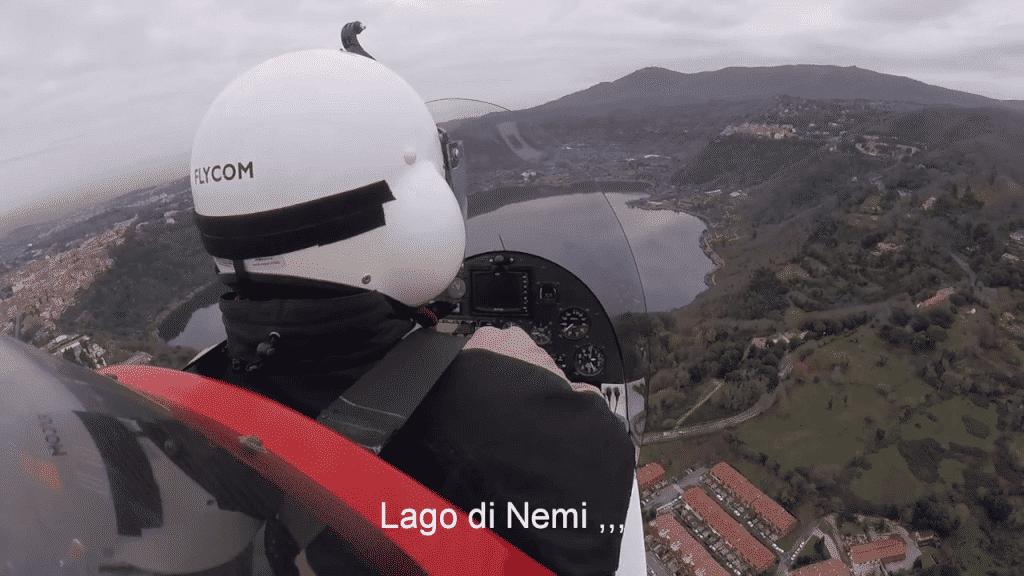 Flight over the roman lakes
