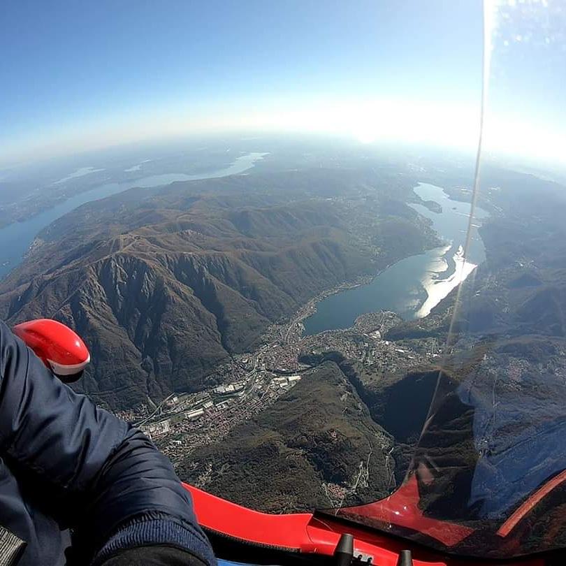 En vol au-dessus du mont Rosa 15500ft