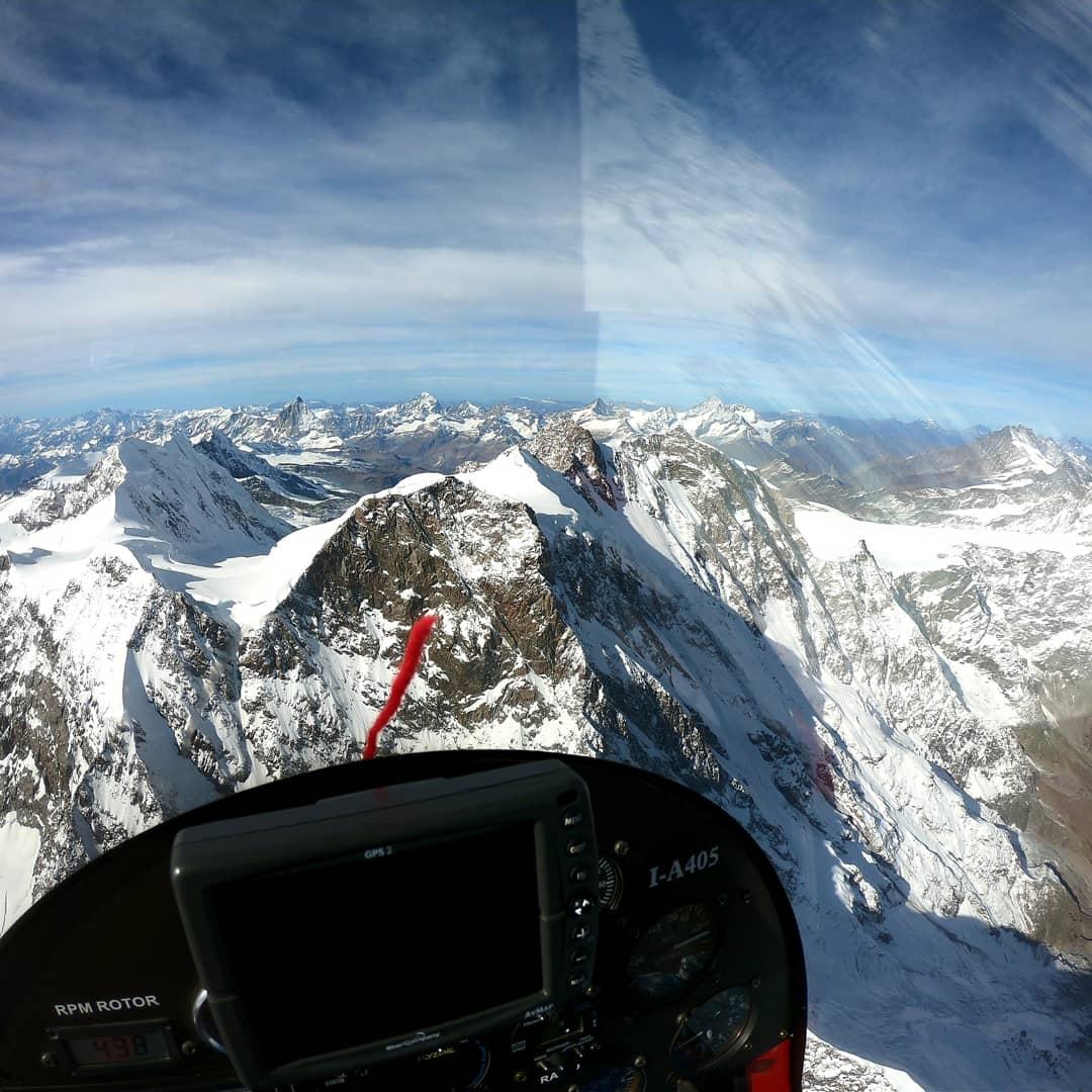 Monte Rosa and Monte Cervino