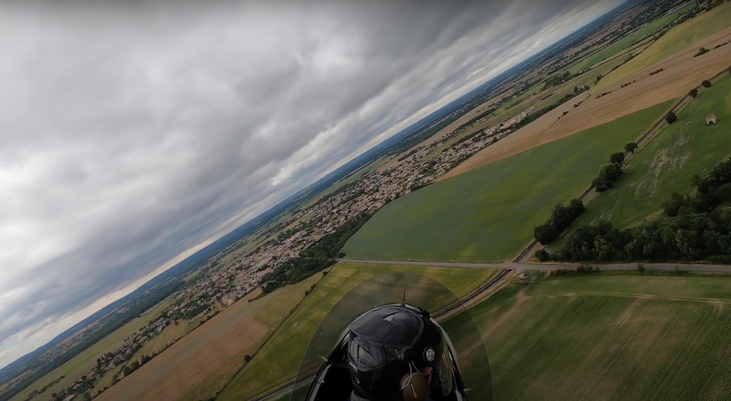 Motorschaden-Training bei 500 Fuß AGL beim ersten Anstieg.